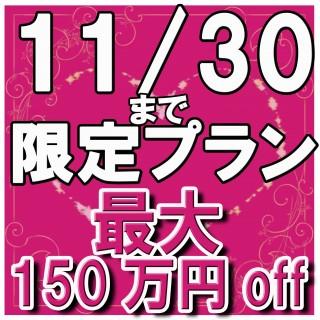 最大で150万円OFF!11/30まで!BIGフェア限定プラン