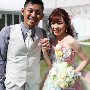 笑顔の多い結婚式になった❤